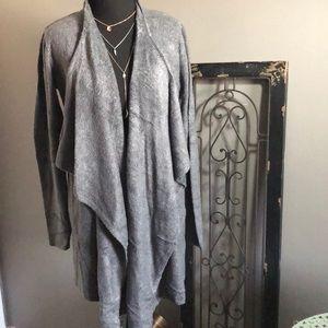 Barefoot Dreams Cardigan, L/XL, Grey